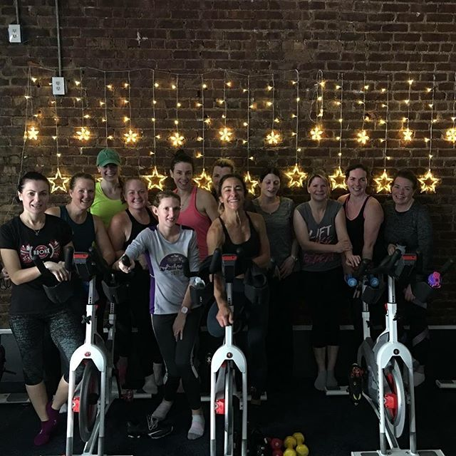 We think they liked it!!! Only one spot left for Hilary's Bike and Bootcamp next Tuesday @ 9:30.  Can't get into that class, book her 8am, you won't be sorry!  www.revcycle.co #revitup