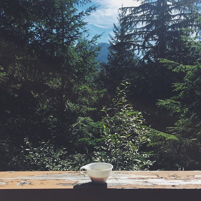 Fresh pots ☕️ Good morning Whistler.  #summervibes #whistler #starcaptains