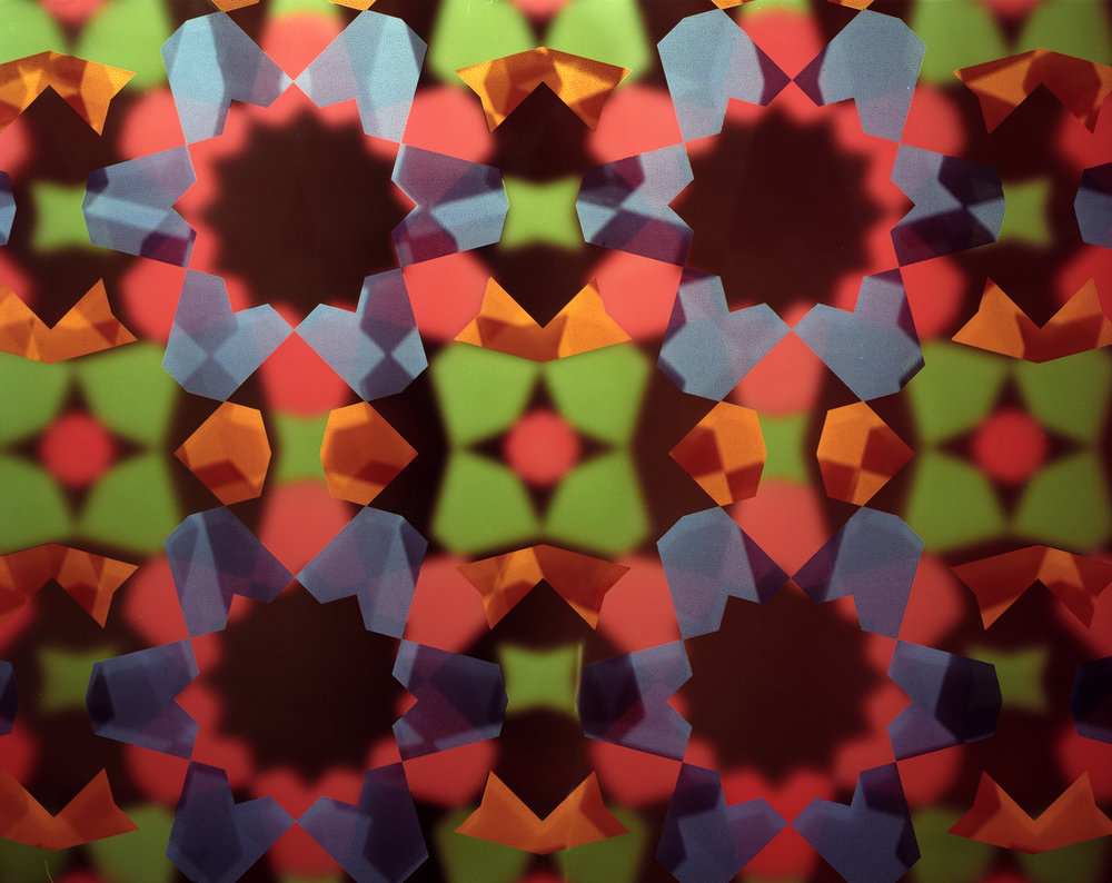 Detail of glass with kaleidoscope effect