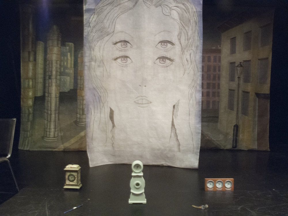 Theater set, New York
