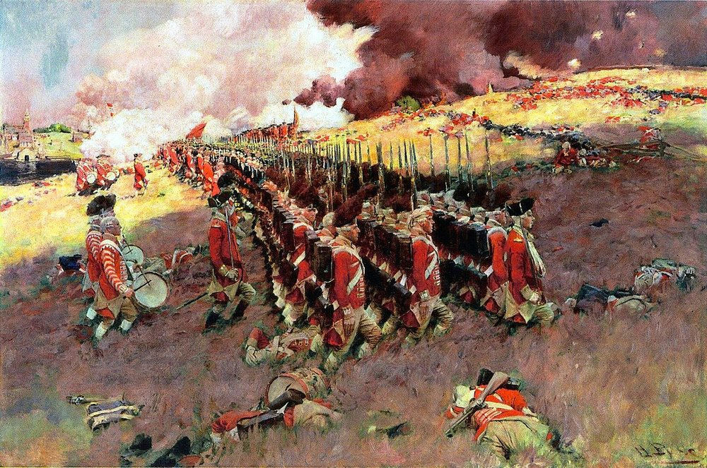 The Battle of Bunker Hill,  by Howard Pyle, 1897