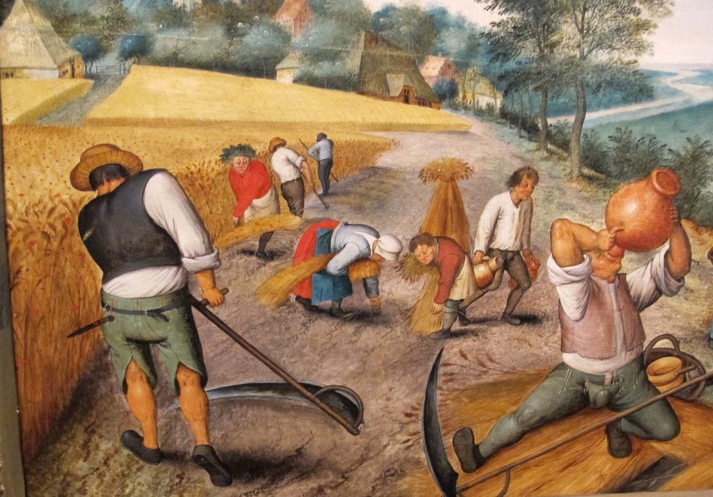 """Peasants Harvesting Crops"" by Pieter Brueghel"