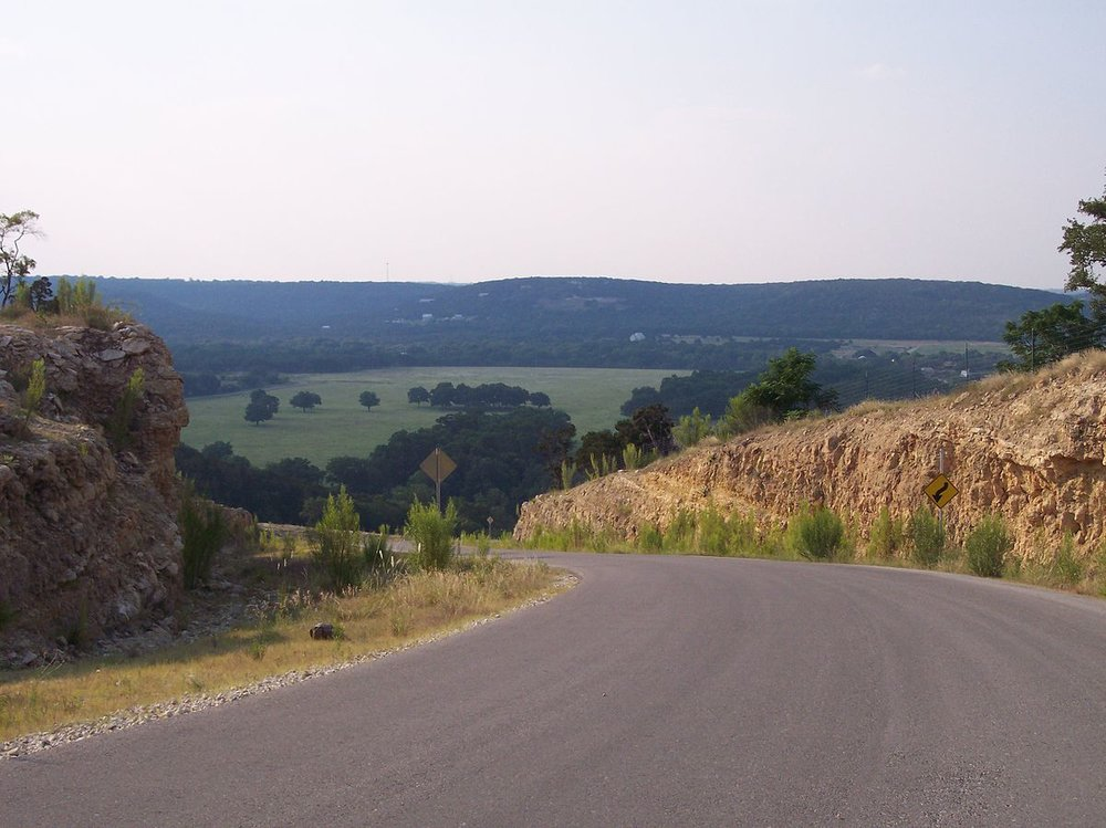 "The rolling landscape of the Texas Hill Country near Austin, Texas dubbed the ""Silicon Hills"""
