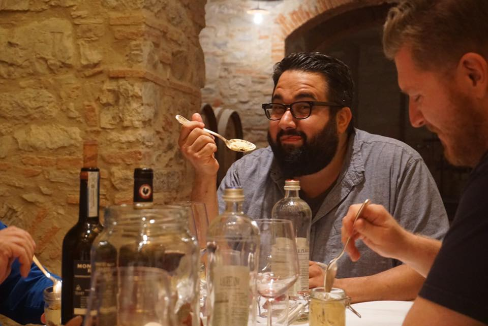 "Madison, Wis. ""chef of the year"" Dan Bonanno samples yet another fine meal on our first-ever ""Chef's Tour"" of Italian small towns in Tuscany and Umbria."