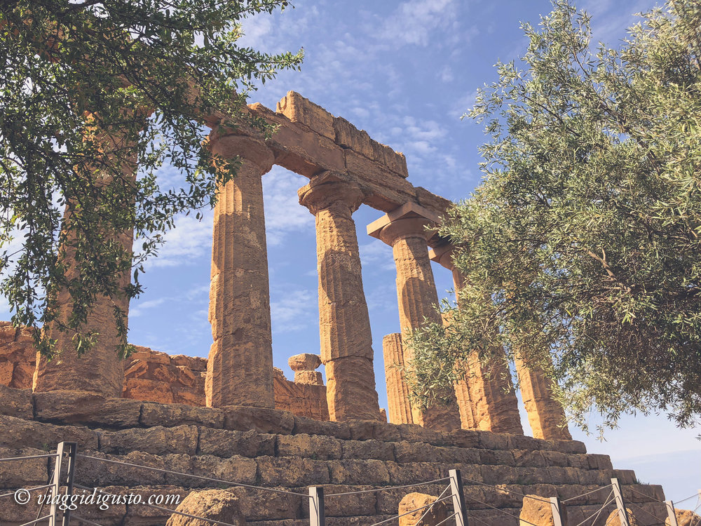 The Valle dei Templi, an archaeological site in Agrigento, Sicily.