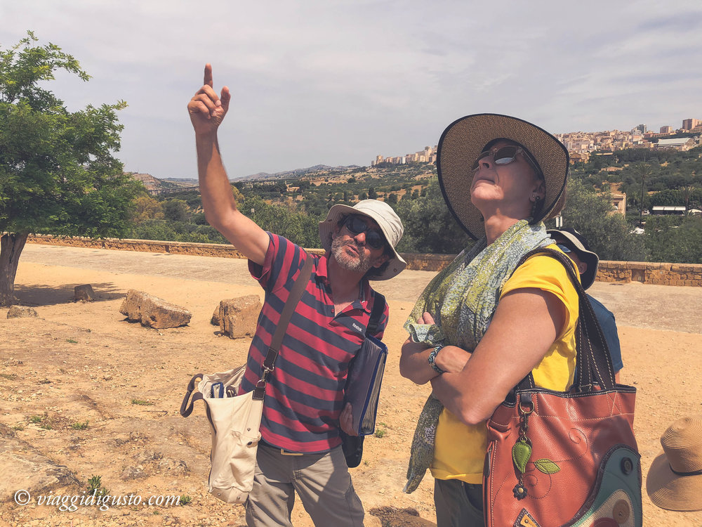 Exploring the Valle dei Templi with archeologist/guide, Marco.