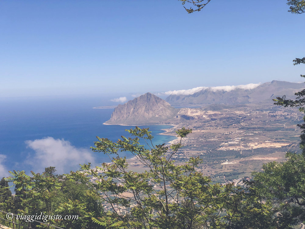 View from hilltop town of Erice.