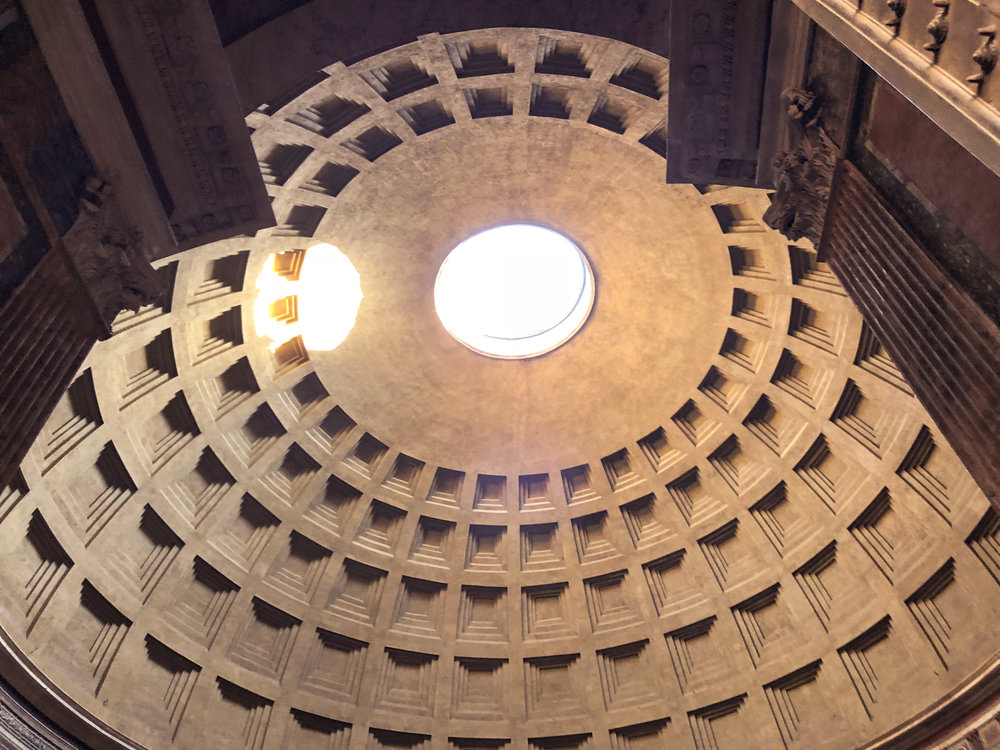 STEP BACK 2,000 YEARS AGO AT THE pantheon—the best-preserved building from ancient Rome