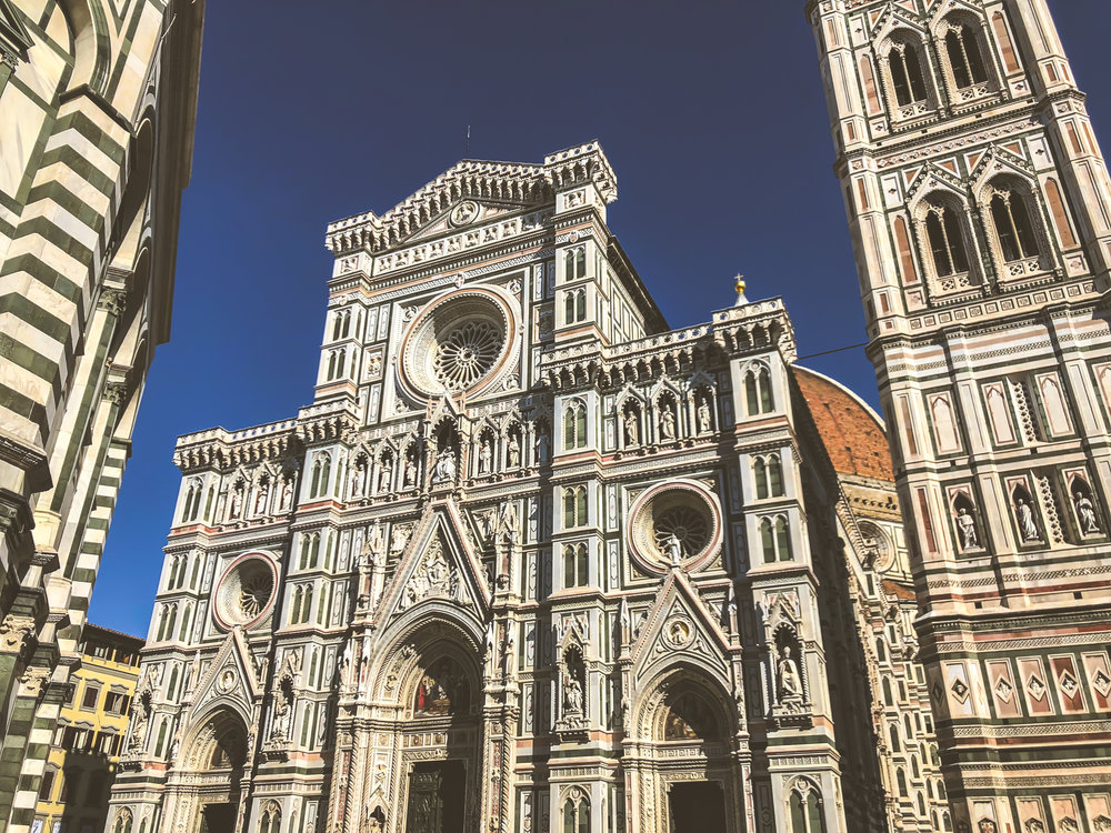 florence's stunning cathedral, il duomo. IT WILL TAKE YOUR BREATH AWAY NO MATTER HOW MANY TIMES YOU SEE IT.