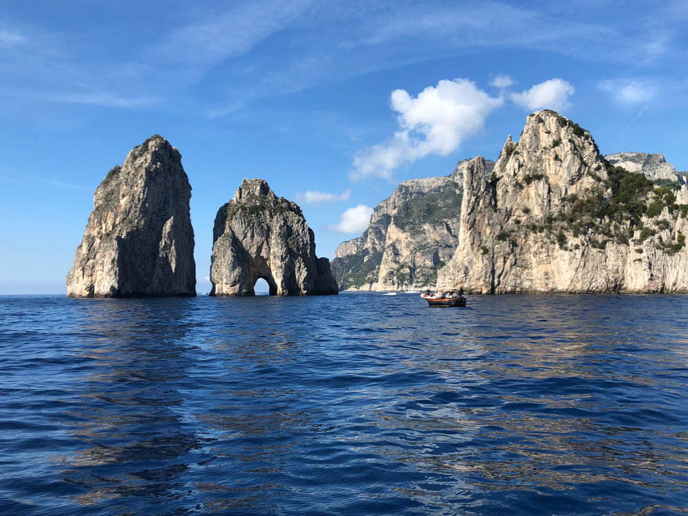the best way to tour the amalfi coast IS FROM A BOAT
