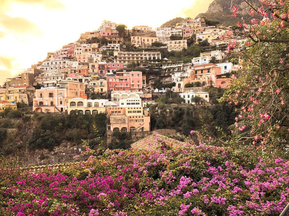 the cascading sun-kissed homes of positano (amalfi coast)
