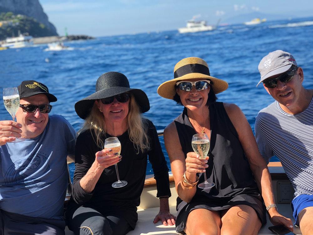 john, marcia, mary & alan taking in the views of stunning amalfi coast
