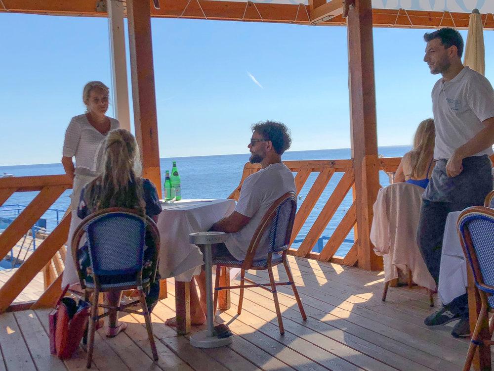 lunch with a view, ristorante lo scoglio