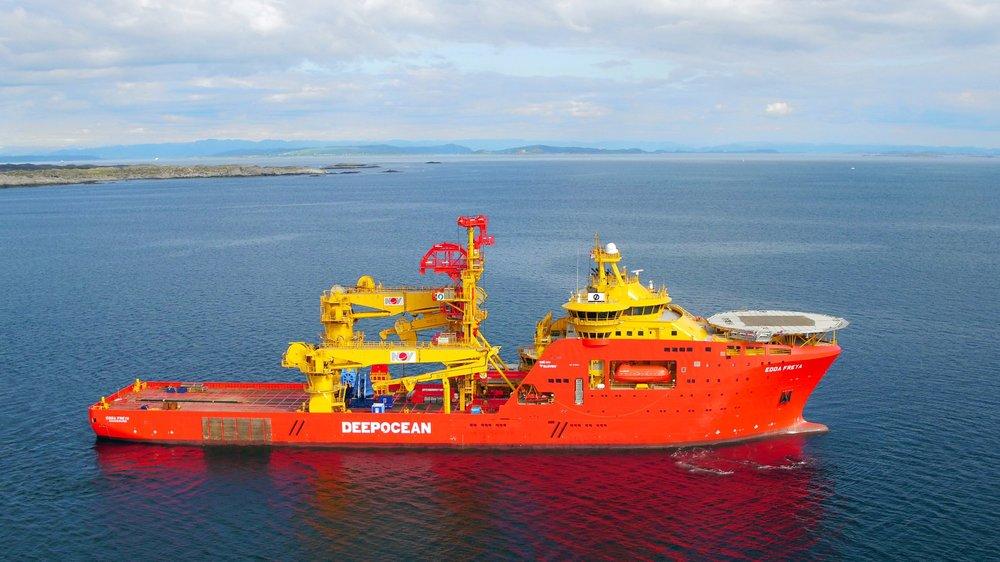 Edda Freya - Built by Kleven Verft in 2016. Design SALT 304 0CV.Accommodation vessel.Matre has supplied with DIFFS.