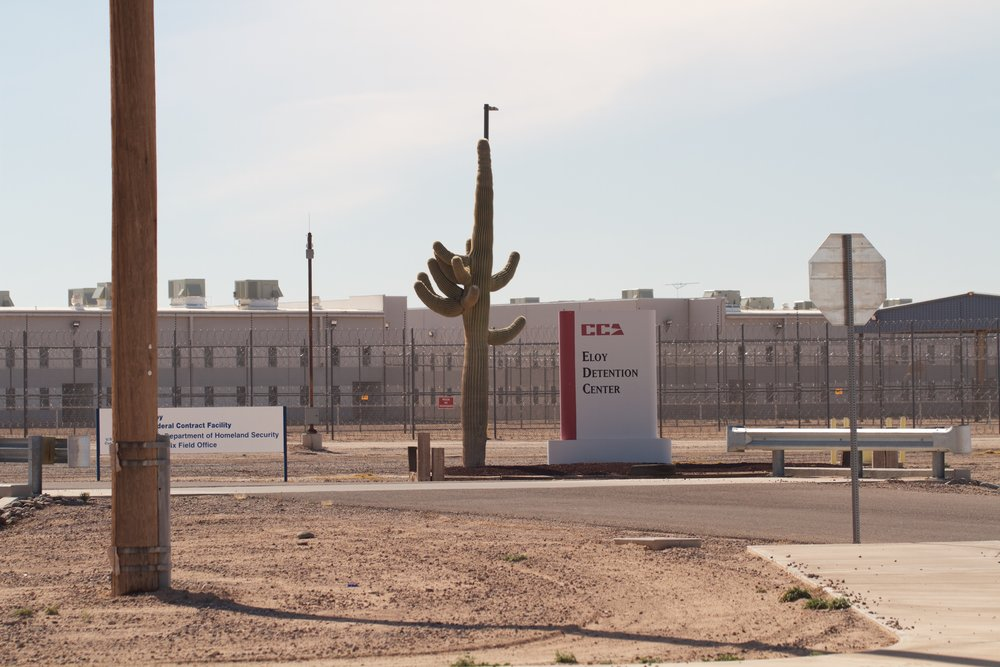 Eloy Detention Center, AZ.  Photo by Imani Lindsey