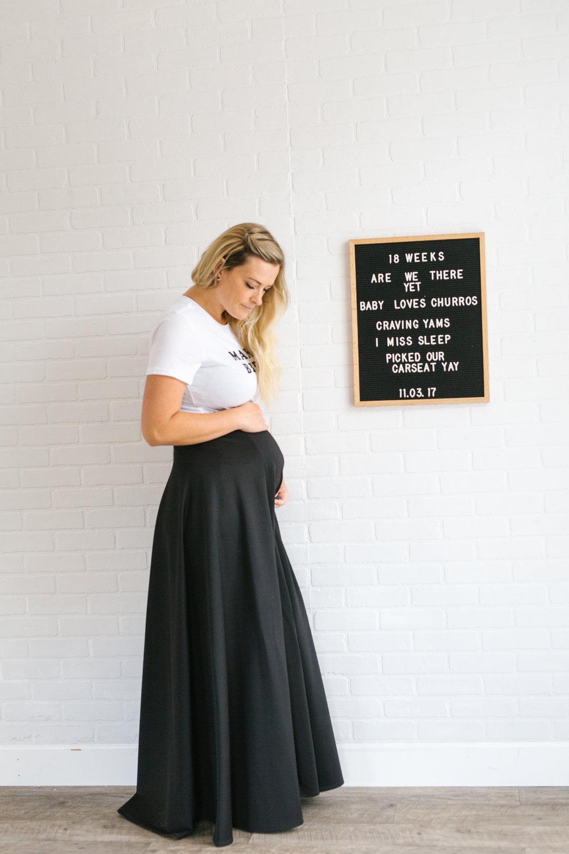 18 weeks pregnant bumpdate