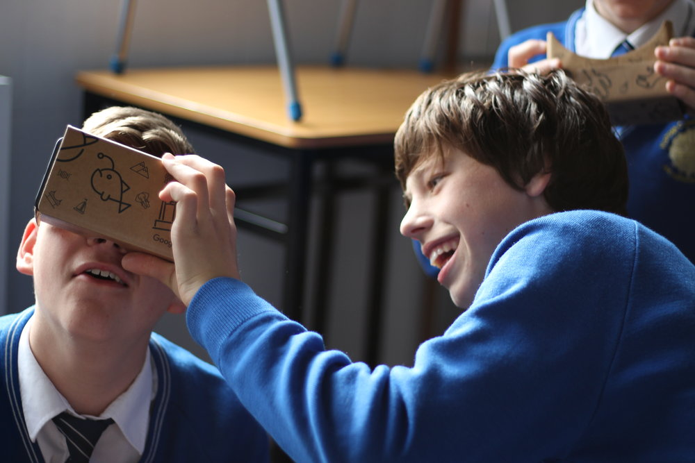 Google Expeditions visits Kishoge Community College