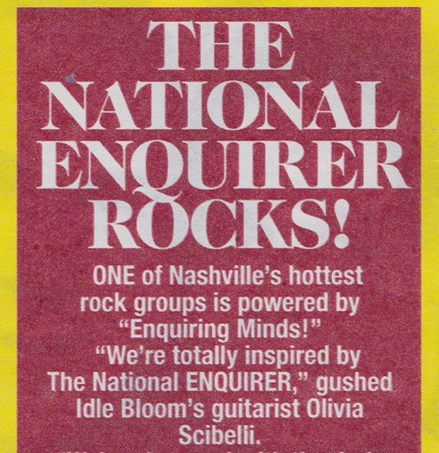 CONTEST:  FIND US IN THIS WEEK'S ISSUE OF THE @thenationalenquirer & take a photo of yourself with the article and tag us to win a FREE TEST PRESSING of #floodthedial 🎭😱🏹