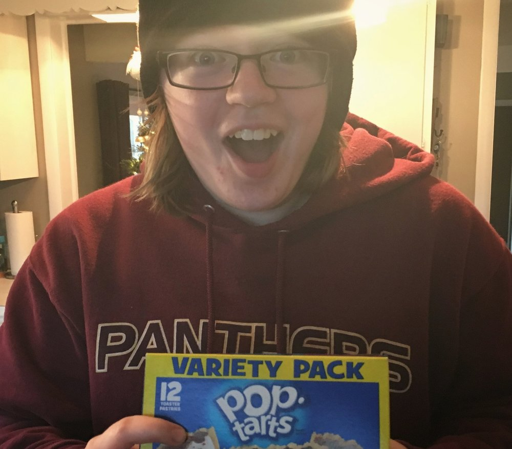 I bought Pop Tarts twice in the past 10 years. Once the other day at the grocery store with the Girl. and once last fall. And I only bought the Pop Tarts last fall so that I could see this reaction.