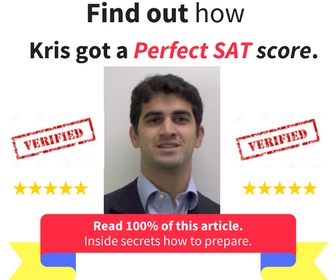 The best part?   Read this entire article. Find out what happened on his journey to a perfect SAT.