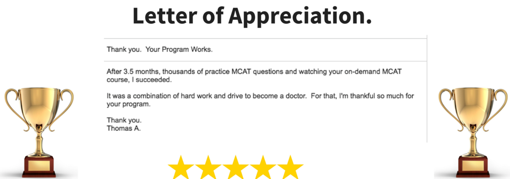 Yes, our clients taking the MCAT are happy. And we're ready to help you get accepted to medical school too.
