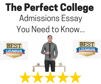 How to write a perfect college admission essay