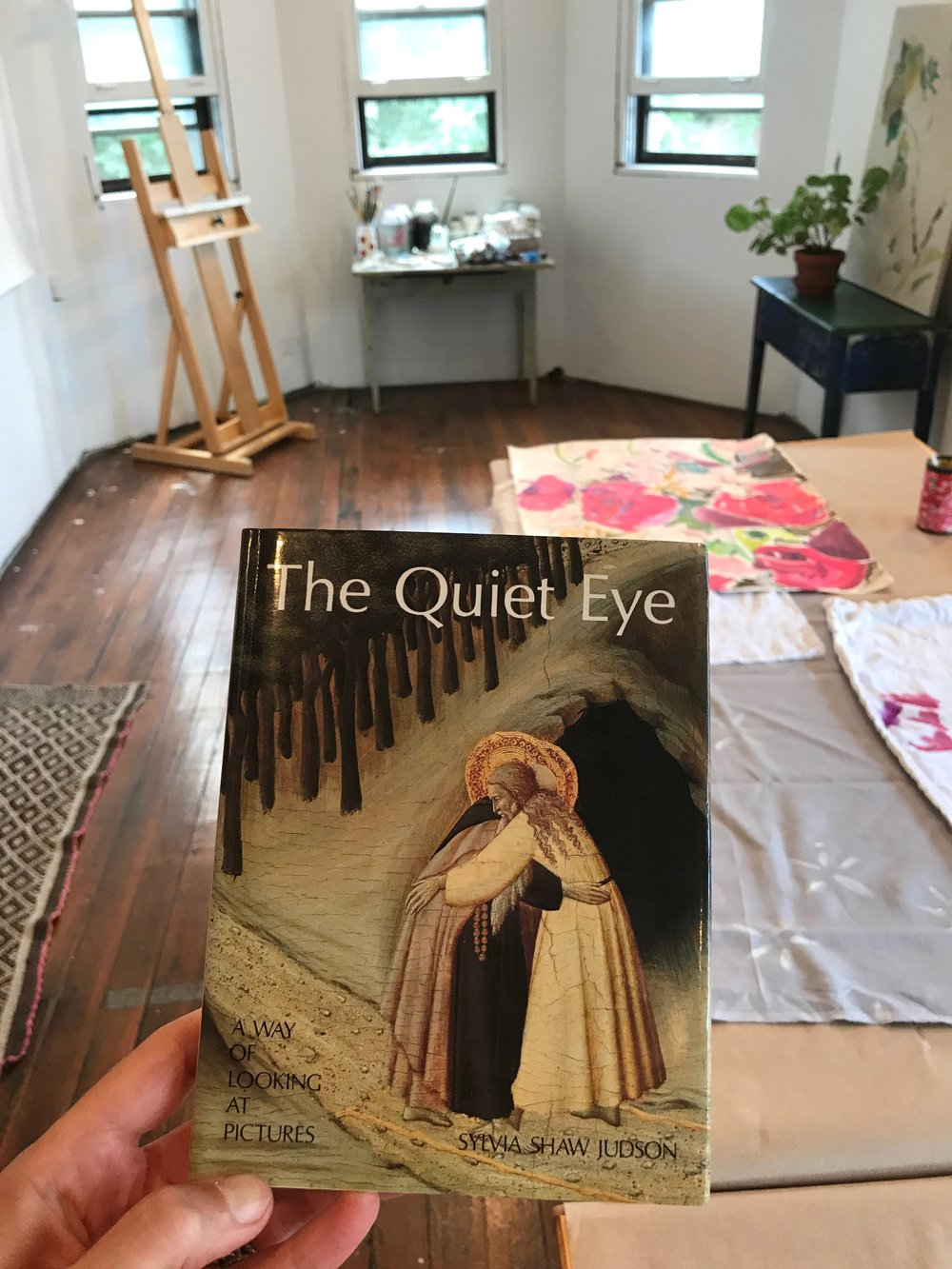 The Quiet Eye  has a permanent home in my studio.