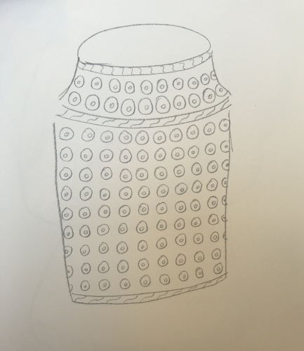 Pencil sketch for small vase