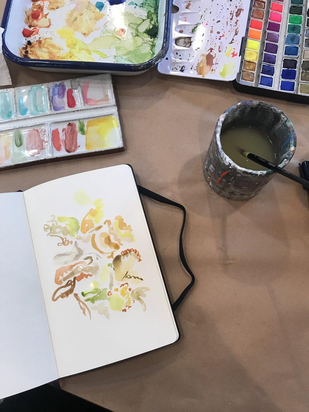 kate lewis art.brown leaves sketch.jpg