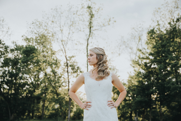 serious bride in epic photography in central NC
