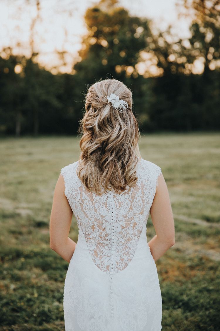 bridal hair example at germanton wedding venue