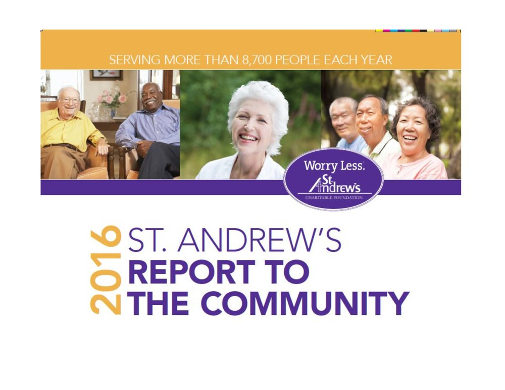 Review our report and explore how St. Andrew's connected with thousands of seniors in 2016 ( PDF )
