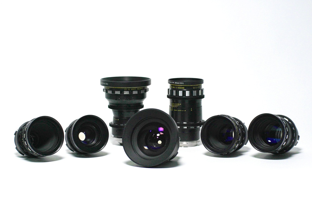 The Super Baltars are possibly one of the most famous sets of lenses in film history. Made from the 1950's until the 1970's, these lenses are warm, slightly infrared creating a surreal image unique with a multi-colored green blue flare, ultraviolet and sharp (from the cobalt glass). This gives images of high contrast with warm flesh tones and cool flares. A beautiful image is a beautiful image, but these lenses throw some magic in the recipe, which you will not get from a modern lens set.