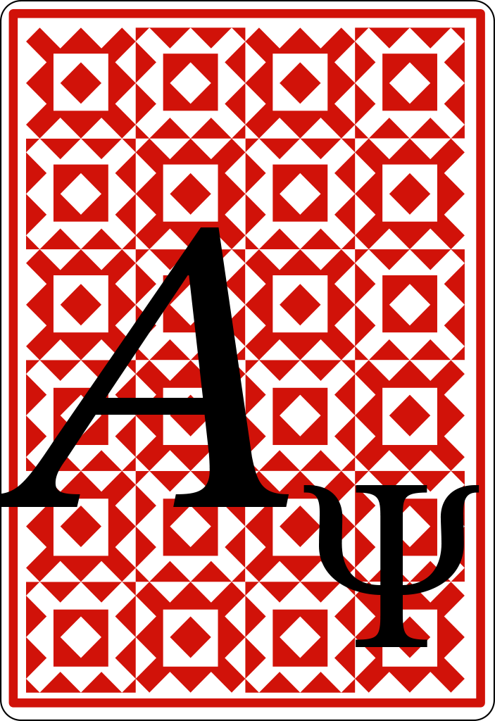 Quantum Playing Card A Psi