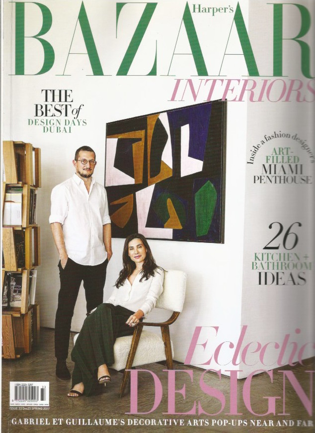 """<span style=""""font-family:Helvetica;letter-spacing:2px;font-size:10px;color:rgba(28,28,28,0.8)""""><b>HARPER'S BAZAAR INTERIORS</b></span><br><i>march 2017</i>"""