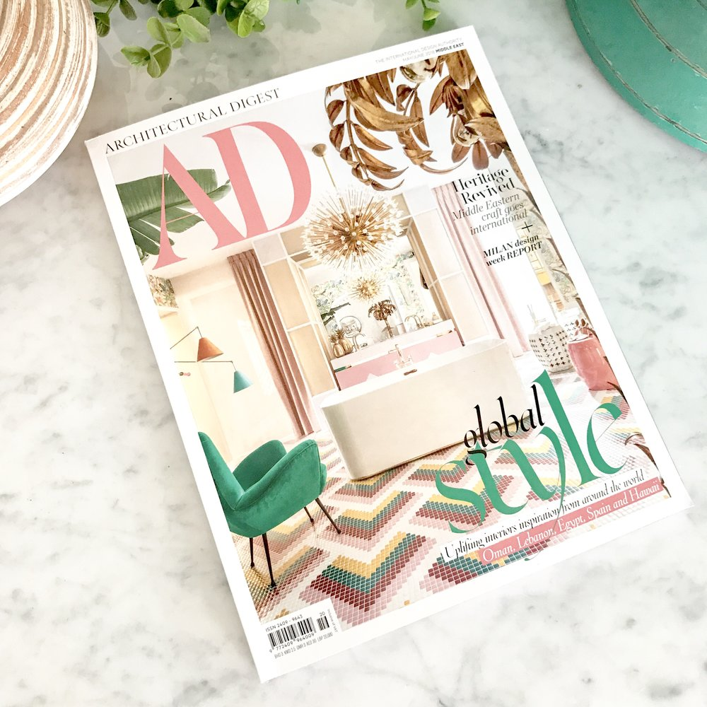 """<span style=""""font-family:Helvetica;letter-spacing:2px;font-size:10px;color:rgba(28,28,28,0.8)""""><b>ARCHITECTURAL DIGEST</b></span><br><i>may 2018</i>"""