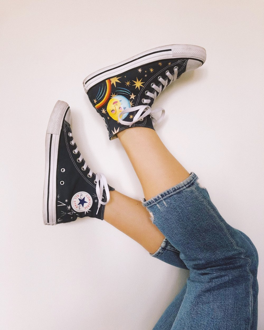 Custom Sun, Moon & Star Converse
