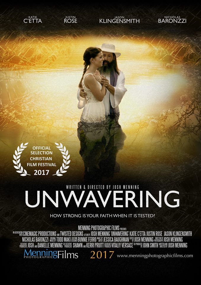 UNWAVERING is a faith-based film that tells the story of a girl who is in present day captivity with her peers being held at an abandoned warehouse by a terrorist group. As Sarah (Katie C'etta), the main character, is tested and struggles to stay true to her faith she also has flashbacks from her childhood, her first love, getting engaged, and the event that reveals how she was captured. UNWAVERING is a mix of loving memories, intense emotional situations, and on the edge of your seat suspense.