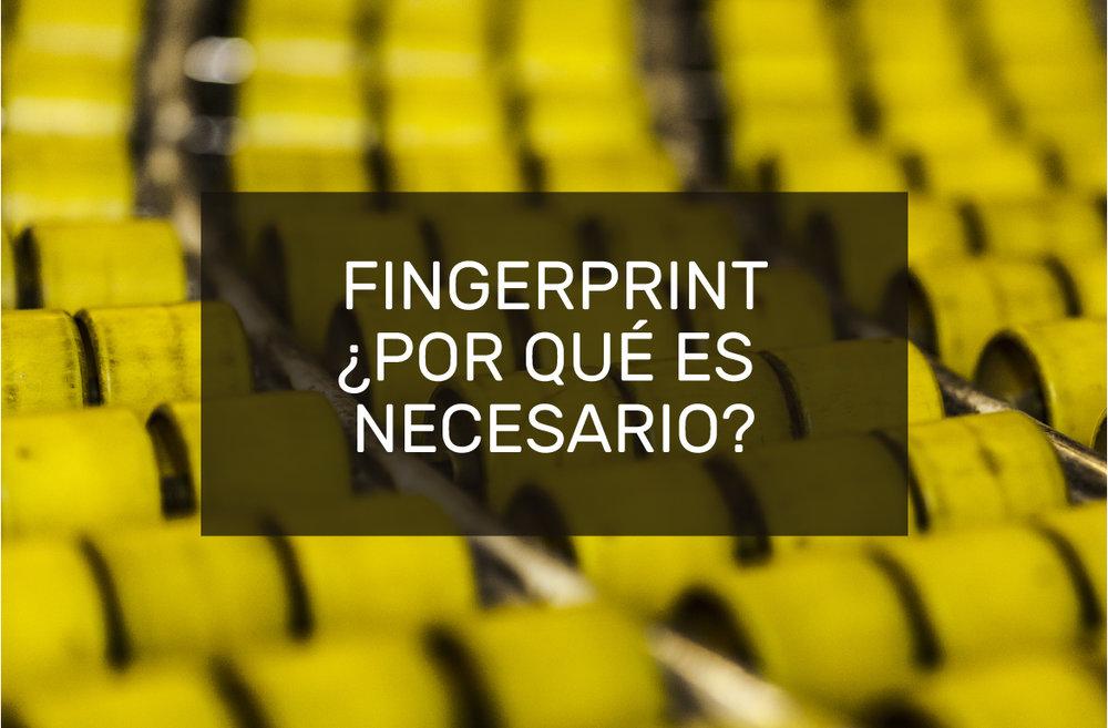 fingerprint por que es necesario caracterizar a un impresor de empaque