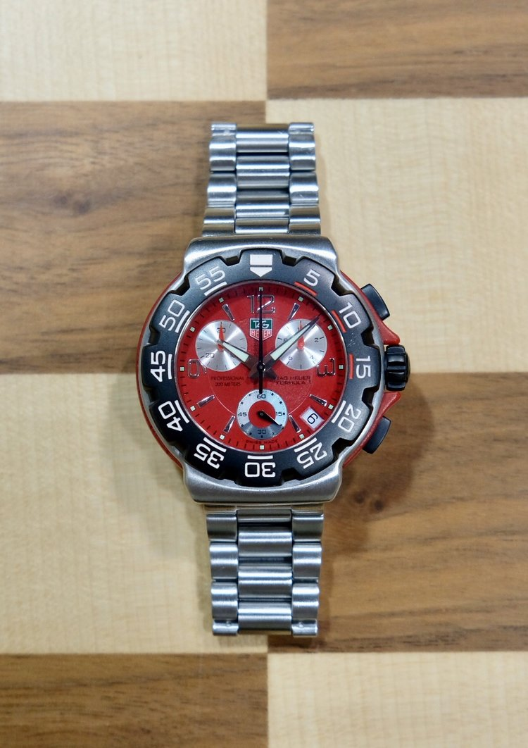 0550872f11b Previously-Owned TAG Heuer Formula-1 Chronograph - Red Dial ...