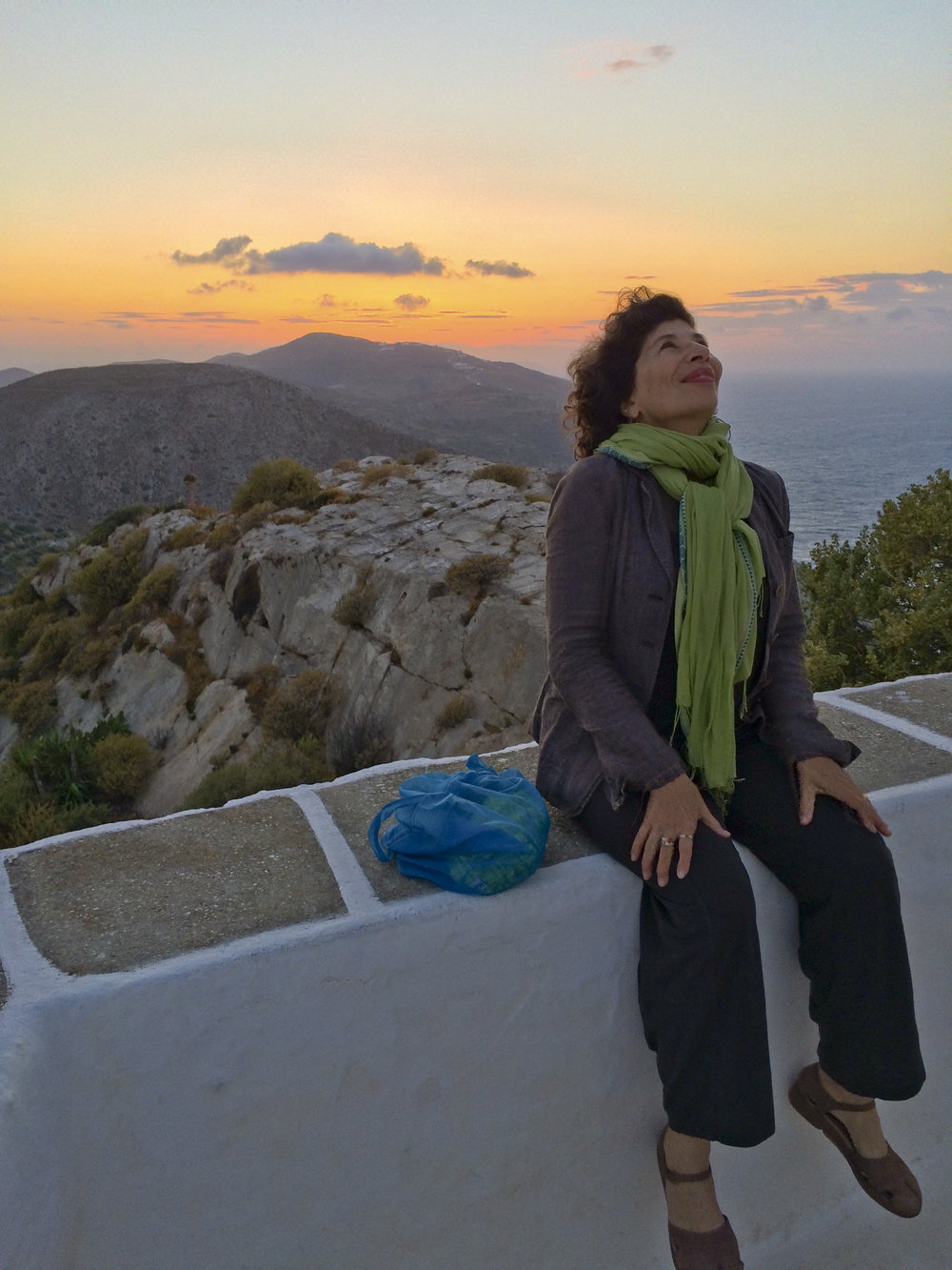"Enjoying the Greek Island of Folegandros, during an ""Inspiration in the Aegean"" workshop."