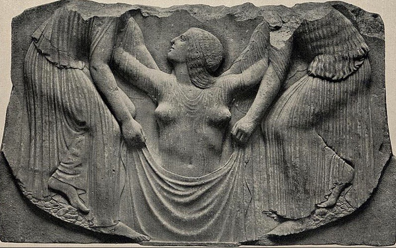 Aphrodite emerging from sea - Ludovisi Throne 460 b.c..jpg