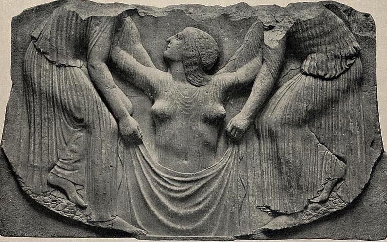 Aphrodite emerging from sea - Ludovisi Throne 460 b.c..jpg
