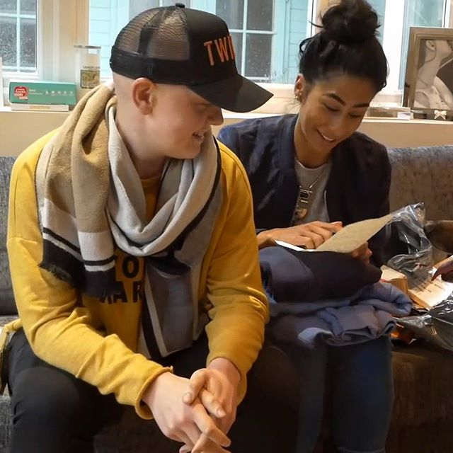"Callum and Adam here! We are absolutely made up right now. - We've been watching @emilyhayward.pt and @aishahasan92 for a long time and we finally sent them some Hoodies and a note thanking Emily for her vlog and they got it! - So happy to see it put smiles on their faces, it definitely put some on ours. - We had a high five and a ""f-you cancer moment"". That's the best middle finger you can give this disease. Keep living life well, keep having fun and keep smiling! - Can't wait for Jordan to see this when he wakes up halfway around the world. - Cancer, soz mate, we win today 💪🏻 #nevergiveup #fuckcancer #musclefightscancer #cancer #cancerjourney #braintumour #cancerfight #fitness #happiness #resolute"