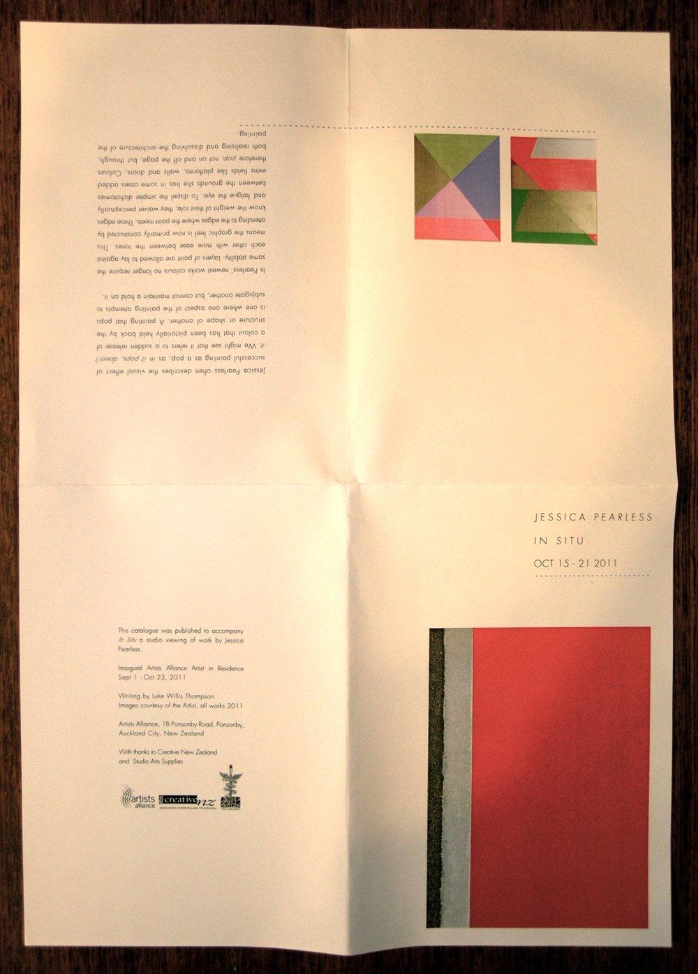 In Situ, Exhibition Publication
