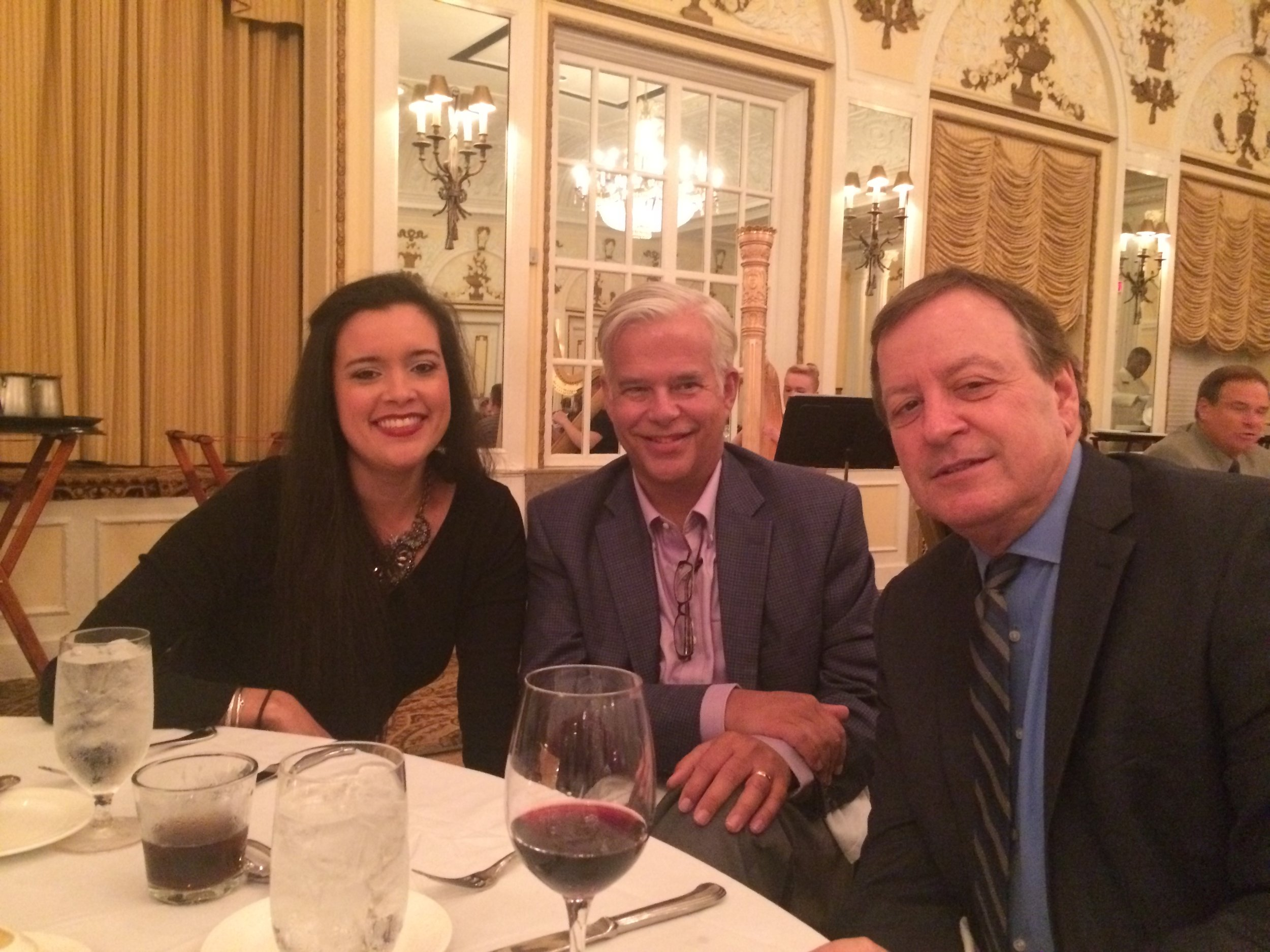 Lindsey Johns, marketing coordinator (left), Barry Rubens, CEO (middle), Bruce Sanders, EVP (right)