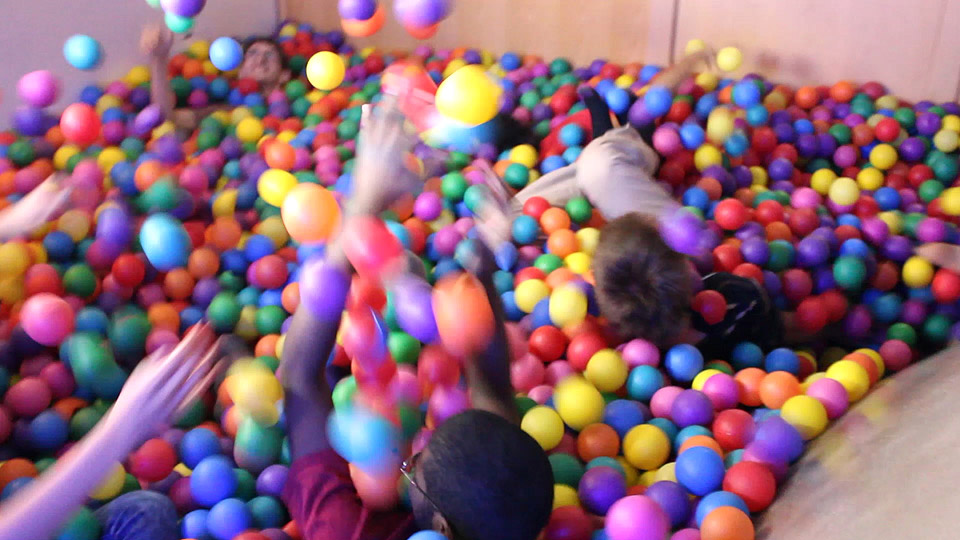 Simmons Hall's ball pit