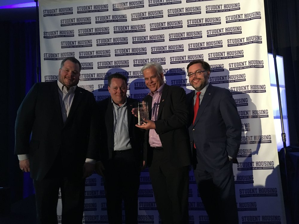 Pictured from left to right: Taylor Jones, CTO, Robert Grosz, CRO, Barry Rubens, CEO, Dan McDonough, Chairman