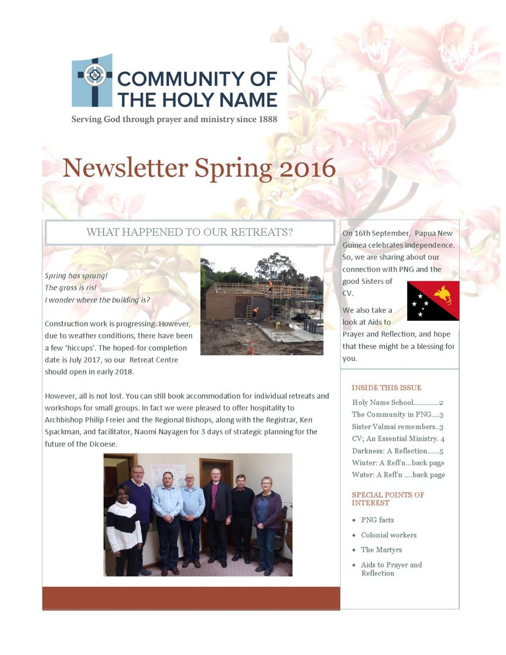 Click on image to download newsletter.