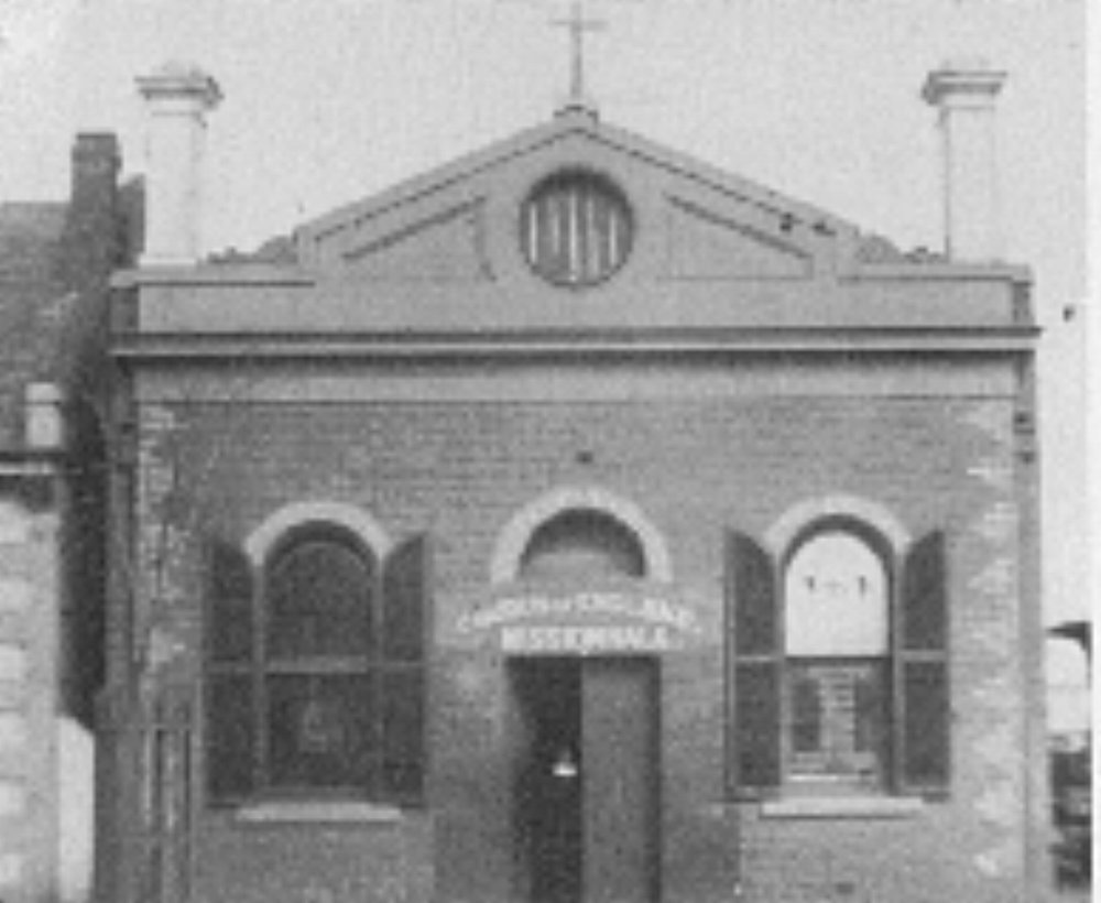 First mission hall in Little Lonsdale St. circa 1888.